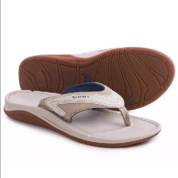 2379aa784fc3 SIMMS Atoll Flip Flops - Vegan Leather Sandals